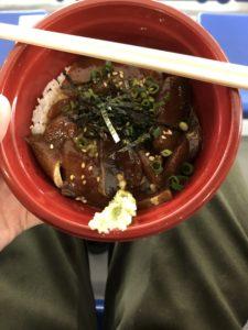 東京ドーム ふるさと祭り東京2020 寒ブリ漬け丼(熱めし丼)