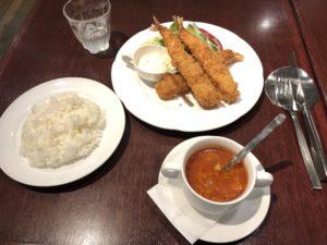 池袋の西武デパートにある【グリル丸の内亭】の海老フライが美味い!